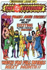 DC Comic Book Explosion ad