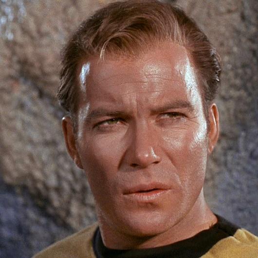 Bill ever-lovin' Shatner as Captain James Tiberius Kirk