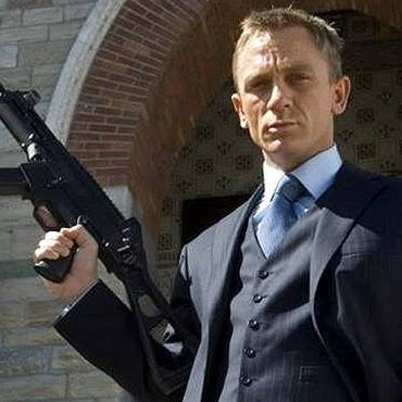 James Bond smoothly played by Daniel Craig