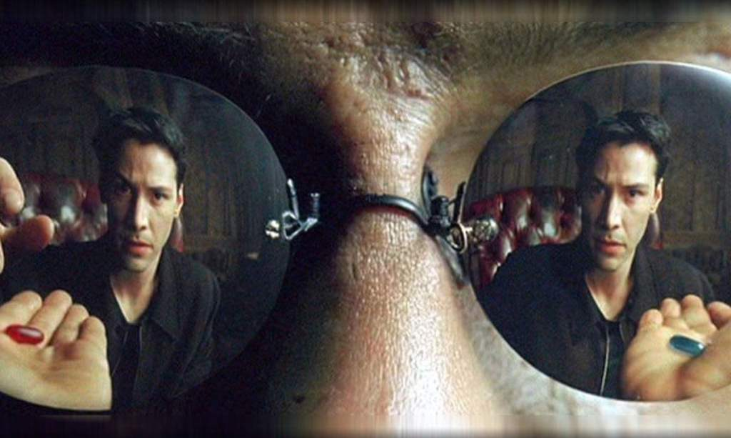 Morpheus offers Neo a choice: Red Pill or Blue Pill